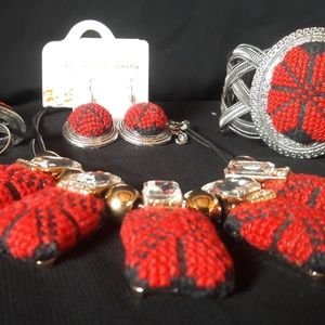 Hand Made Jewelry Set-Pendant with Ring-Palestinia